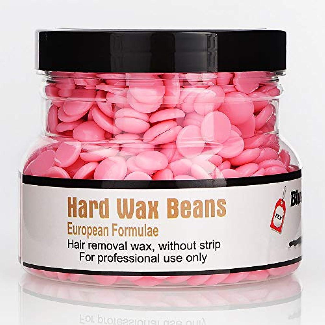 予想外浸漬お願いしますRabugoo 250g美容脱毛ハードワックス豆フェイス脇の下のアーム脚のための安全な恒久的な脱毛剤 rose