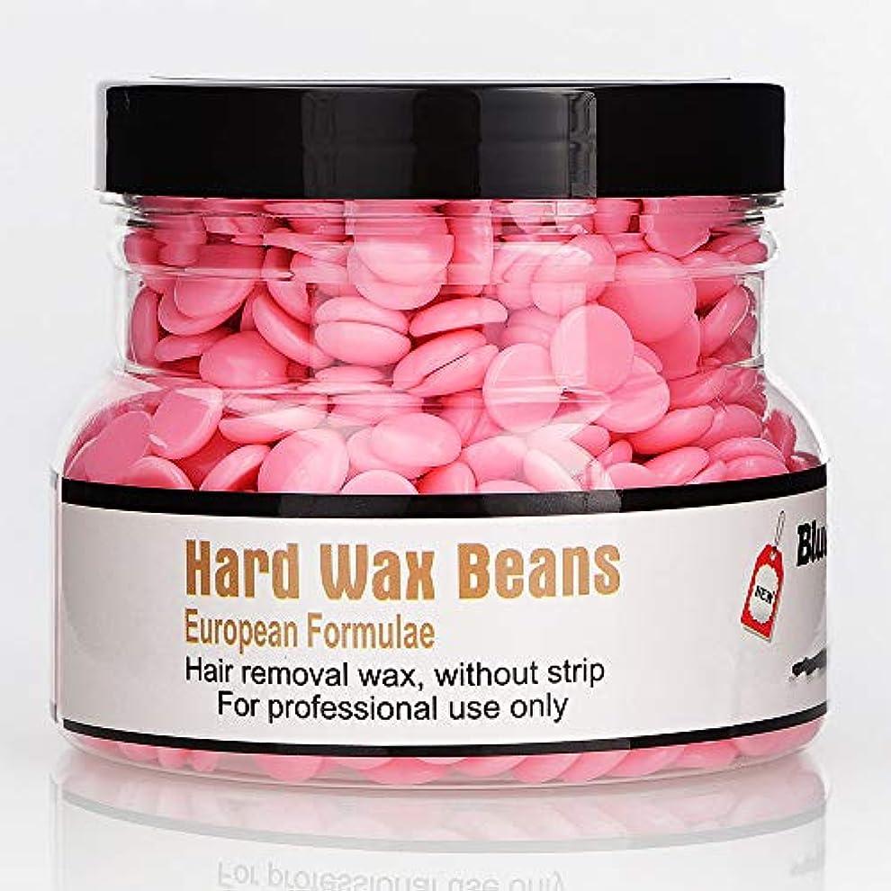 時々満了落胆したRabugoo 250g美容脱毛ハードワックス豆フェイス脇の下のアーム脚のための安全な恒久的な脱毛剤 rose
