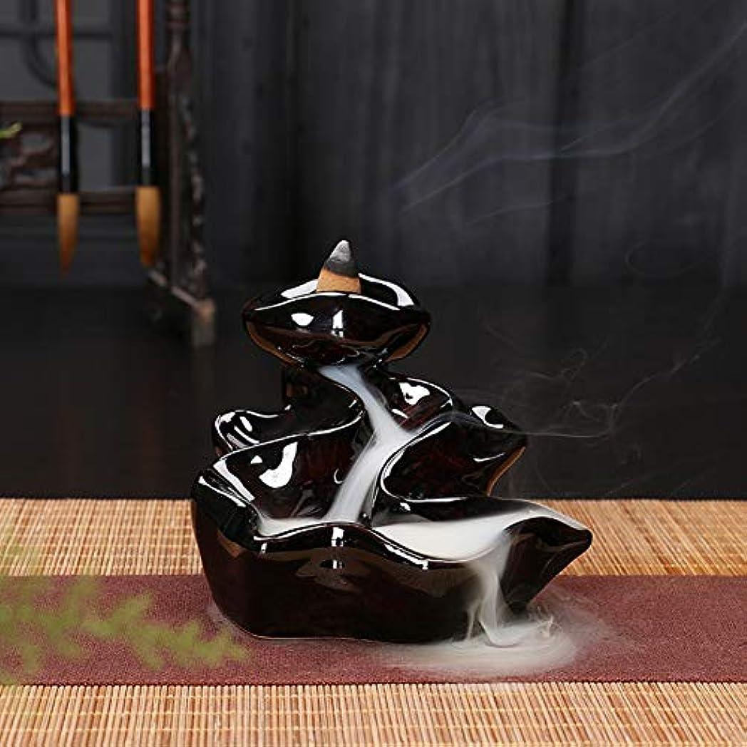 砦貨物直感Dkhsyバーナーお香バーナーリフロー式香炉香コーンホルダーバックフローバーナーセラミック逆流香バーナー山滝煙香ホルダー家の装飾