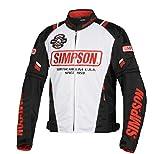 シンプソン(SIMPSON) バイク用ジャケット Mesh Jacket(メッシュジャケット) ホワイト LL SJ-8117