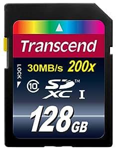 Transcend SDXCカード 128GB Class10 (無期限保証) TS128GSDXC10