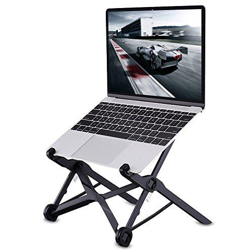 [해외]KOOGOO (코구) 노트북 스탠드 접이식 3 단계 조절 가능 360 ° 회전 경량 요통 대책에도 적용 수납 편리 냉각 스탠드 노트북 홀더 내 하중 10kg 흑색 설명서 포함/KOOGOO (Kohguo) Notebook computer stand Foldable three-stage adjustable 360 ??...