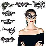 レースマスク KAKOO 8種類8枚 レースアイマスク ベネチアンアイマスク ハロウィン 弾力レース紐 ベネチアンマスク 透かし彫り アイマスク セクシー コスプレ 仮装 パーティー 仮面舞踏会 変装 レース ヴェネチアン マスク