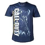 Call of Duty Advanced Warfare Soldier Men -S- Blue Shirt (コール オブ デューティ アドバンスド・ウォーフェア ソルジャー ブルー Tシャツ Sサイズ)