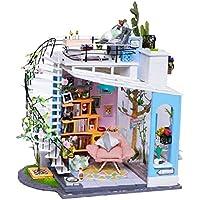 D DOLITY 4色選ぶ DIYハウス 手芸品 1/24スケール ドールハウス ミニチュア 家具 コレクション  - #4