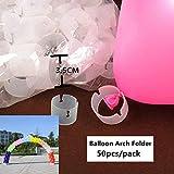 Yumbyss - 結婚式の誕生日パーティーの装飾大人子供のための気球アクセサリーエアーポンプアーチフォルダシールクリップスティックバルーンリボンペンダント[アーチホルダー]