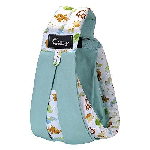 Cuby ベビーキャリア 抱っこひも ベビースリング 新生児 対象0~2歳 片肩 (ブルー)