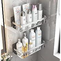 【強化版】シャンプーラック 浴室 ラック シャワーラック 強力粘着固定 壁に穴を開けない お風呂の壁に シャンプー置き…