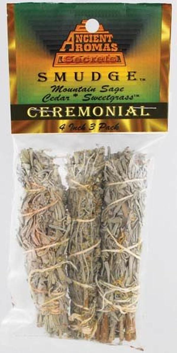 分類同一性オアシスCeremonial Smudge Stick 3 - Pack