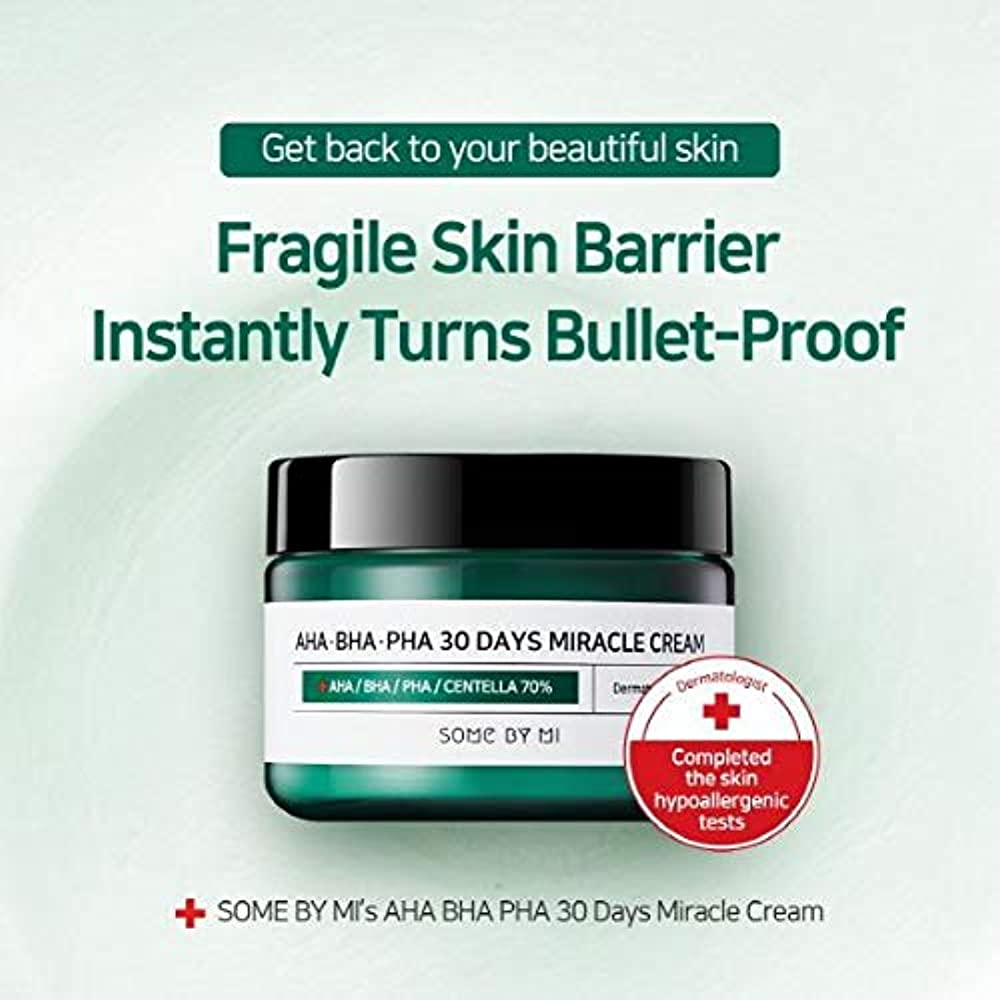 シャープフィードバック充実Somebymi AHA BHA PHA Miracle Cream 50ml (1.7oz) Skin Barrier & Recovery, Soothing with Tea Tree 10,000ppm for Wrinkle & Whitening/Korea Cosmetics [並行輸入品]