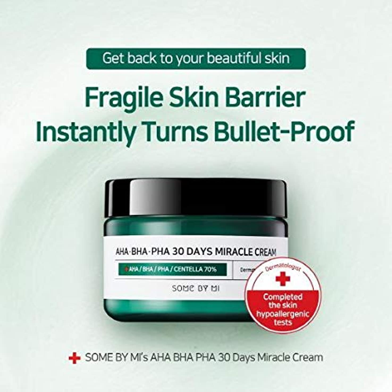 失態書誌引き潮Somebymi AHA BHA PHA Miracle Cream 50ml (1.7oz) Skin Barrier & Recovery, Soothing with Tea Tree 10,000ppm for...