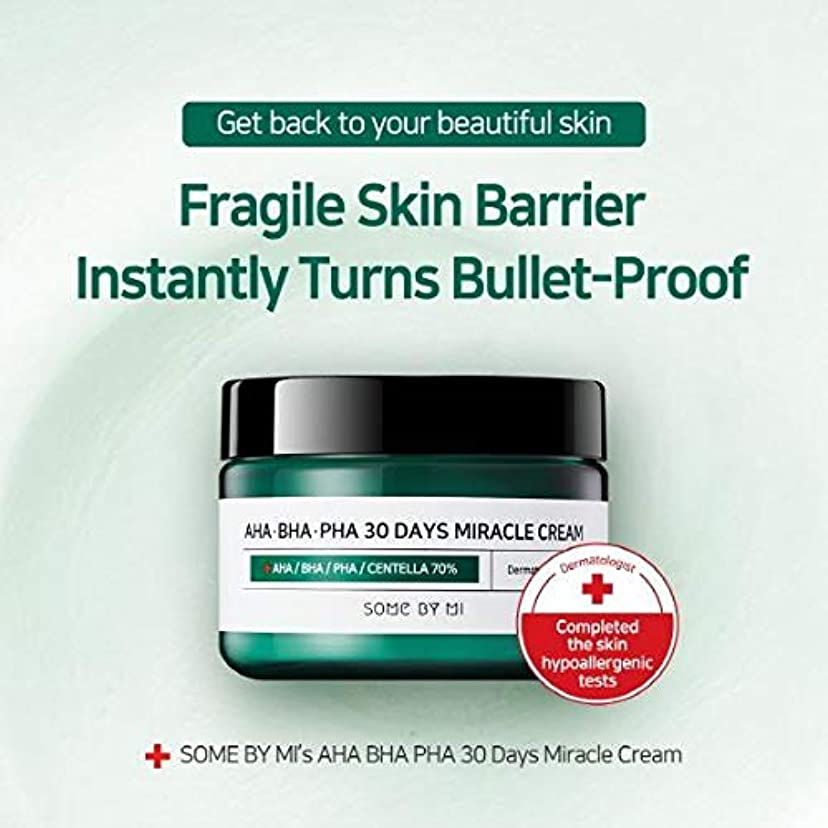 大型トラックハリウッド痴漢Somebymi AHA BHA PHA Miracle Cream 50ml (1.7oz) Skin Barrier & Recovery, Soothing with Tea Tree 10,000ppm for Wrinkle & Whitening/Korea Cosmetics [並行輸入品]