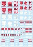 ハイキューパーツ JPNデカール01 レッド 1枚入 プラモデル用デカール JPN-01-RED