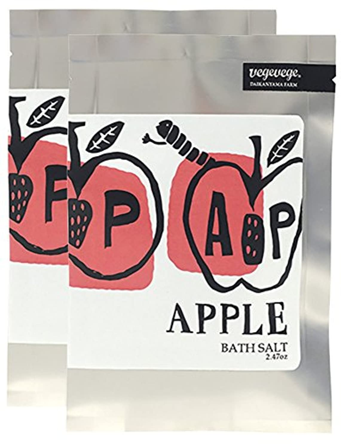 ズームインする洗うドリンクノルコーポレーション 入浴剤 バスソルト VEGEVEGE アップルの香り 2包入り OB-VGE-2-4