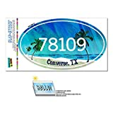 コンバース 78109 コンバース, TX - トロピカルビーチ - 楕円形郵便番号ステッカー
