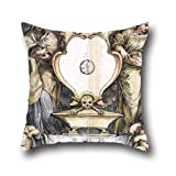20 X 20 Inches / 50 By 50 Cm Oil Painting Lazzaro Baldi - Presentation Drawing For An Epitaph Throw Pillow Case ,double Sides Ornament And Gift To Study Room,bench,gril Friend,car Seat,gf,bench