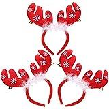 Soochat クリスマス 枝角 ヘッドバンド トナカイの角 ヘッドバンド クリスマス イースターパーティー ヘッドバンド (3個)