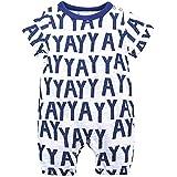 YAYARUNKA ベビー服 ロンパース 男の子 女の子 カバーオール 半袖 夏服 男女兼用 動物柄 英字 抽象絵 パジャマ 肌着 出産祝い 可愛い 薄手