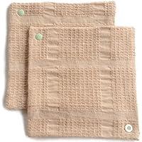 華布 オーガニックコットンの布ナプキン スナップ付ライナーM (約15×約15) 2枚入り (グリーン)