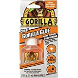 Gorilla Glue Clear, No-Foam Formula, Indoor & Outdoor Use, Water Resistant, Easy Application Nozzle, Made in USA, 51ml/1.75oz