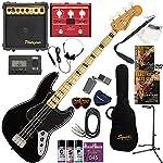 Squier エレキベース 初心者 入門 指板のブロックインレイが特徴的なジャズベース マルチエフェクターも入ってる!最強の20点セット Classic Vibe '70s Jazz Bass/BLK(ブラック)