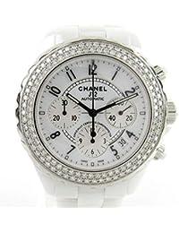 1c8a6963829e [シャネル] CHANEL J12 クロノグラフ ベゼルダイヤモンド ウォッチ 腕時計 ホワイト ...