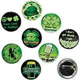 [ファンエクスプレス]Fun Express St. Patrick's Day Glow in the Dark Buttons Party Favors/Irish 13630524 [並行輸入品]