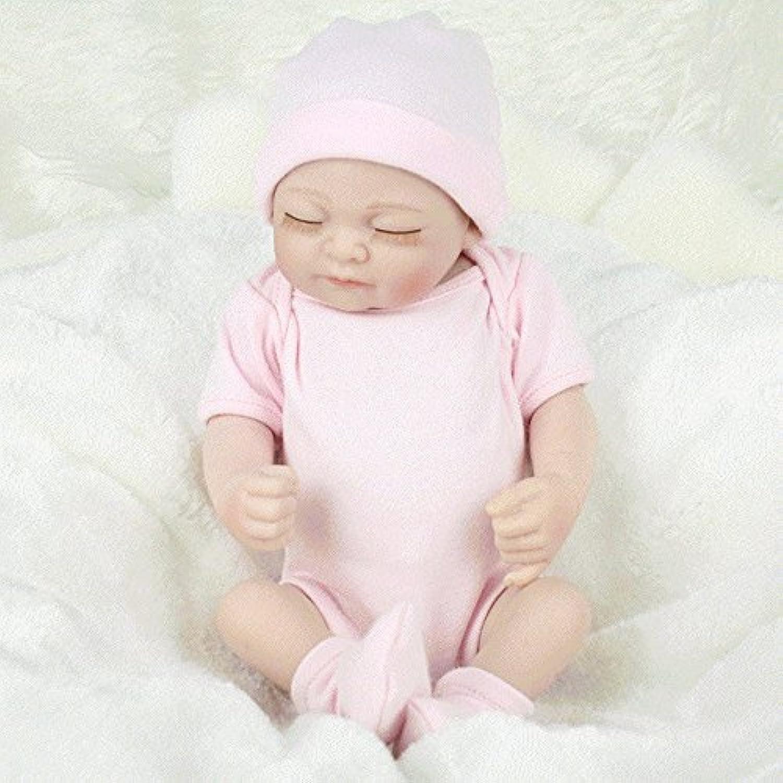 FINLON Rebornベビー人形Lifelikeリアルなガール人形ミニシリコン新生児赤ちゃん人形おもちゃwith Clothesピンク( 11インチ)