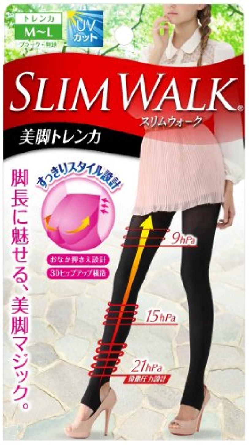 津波講師めるスリムウォーク 美脚トレンカ M-Lサイズ ブラック(SLIM WALK,stirrup leggings,ML)
