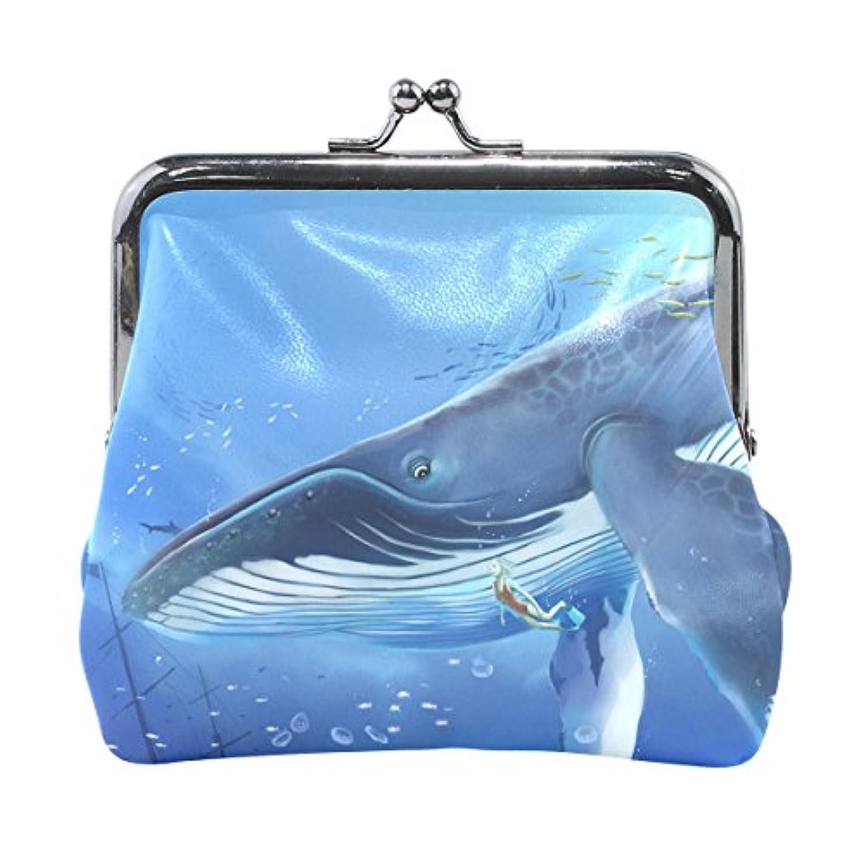 Anmumi がま口 ポーチ 動物柄 クジラ 海 コインケース 財布 小銭入れ PUレザー レディース キッズ 人気 大容量 小物ケース かわいい 通勤通学