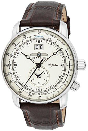 [ツェッペリン]ZEPPELIN 腕時計 100周年モデル シルバー文字盤 7640-1N メンズ 【並行輸入品】