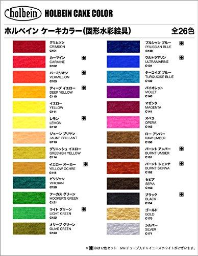 ホルベイン画材『ケーキカラーC012透明24色セット』