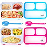 Adult Bento Box Kids Lunch Box 2-Pack - BPA-Free Bento Box for Portable Healthy Meals. Microwave & Dishwasher Safe Bento Boxes for Kids & Adults - Leakproof Bento Lunch Box For Adults & Kids Are Loved