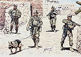 マスターボックス 1/35米現用歩兵4体+軍用犬・アフガン戦捜索部隊