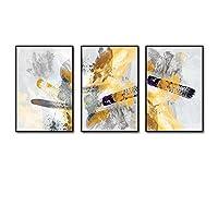 毎日の家 3マルチウォールセットソリッドウッドドリンクインクトリプティックリビングルーム壁画/写真付き (色 : Natural color box, サイズ さいず : 50cmx70cm)