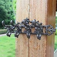 CXQ レトロノスタルジックな鋳鉄製の手工芸品の壁のホームフックの装飾
