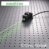 産業用ラボレーザー532nm 500mW緑色ドットレーザーモジュール+ Analog 0-30 KHZ + TEC冷却85-265V + OEM型電源LSR-PS-I クラス2