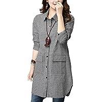 (フムフム) fumu fumu レディースファッション チュニック シャツ チェック 体型カバー 大きいサイズ 白 黒 格子