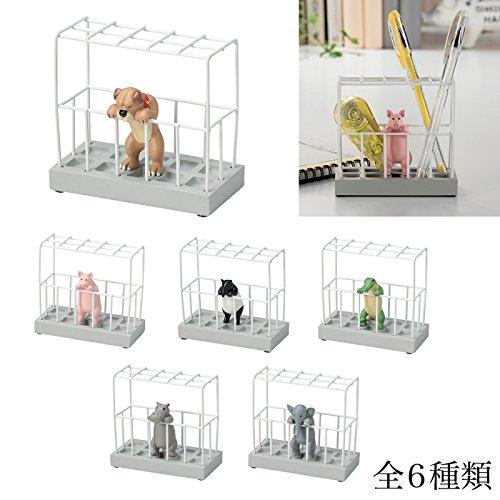 ペンたて ペン立て 鉛筆立て ペンスタンド ステーショナリースタンド 動物 全6種類 ユニーク雑貨特集(ゾウ)