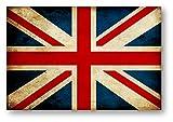 国旗ステッカー(アンティークタイプ) イギリス LLサイズ 再帰反射でよく目立つ イギリス(ア)LL