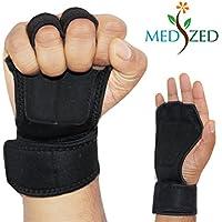 medizedクロストレーニング手袋1ペア、ワークアウトグローブwithラップの重量リフティングジムワークアウト、エクササイズ、マイクロファイバー、強力なグリップ、アクティブパディングを避けるために裂けるメンズ&レディース