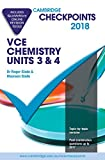 Cover of Cambridge Checkpoints VCE Chemistry Units 3 and 4 2018 and Quiz Me More