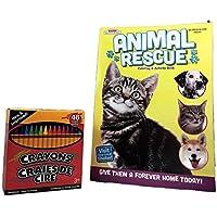 Animal Rescueカラーリングブックandクレヨンバンドル