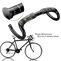 Beautyladays JIMAITEAM ロードバイク 自転車 ハンドルバー 高強度カーボンファイバー (ロードバイクとマウンテンバイクに対応) マットブラック