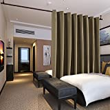 (4.6m Wide x 2.7m Tall, Khaki) - Deconovo Extra Wide Curtains Privacy Room Divider Curtain Thermal Insulated Blackout Curtains Room Darkening Panel for Patio Door, 4.6m Wide x 2.7m Tall Khaki 1 Panel