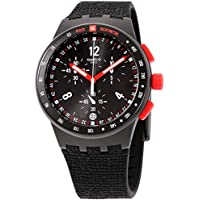 Swatch Originals Stand Hall Black Dial Silicone Strap Men's Watch SUSB411