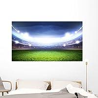 "Soccer stadium壁壁画by Wallmonkeys Peel and Stickグラフィックwm362624 60""W x 34""H - Jumbo FOT-79898376-60"