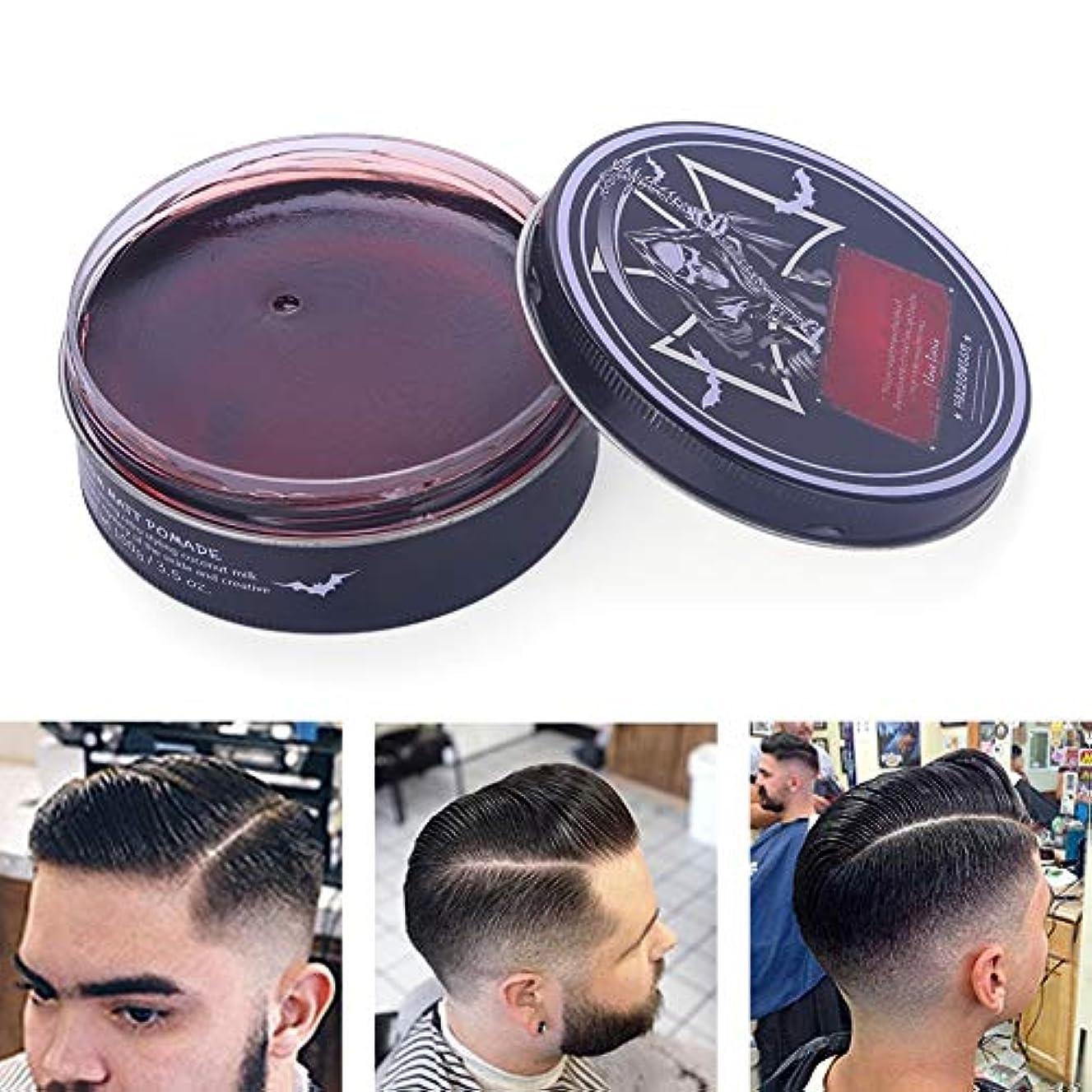 無許可説得力のある愚かプロのヘアスタイリング100ミリリットルを設計するための男性のためのヘアスタイリングワックス、ナチュラルおよび有機成分ヘアスタイリング粘土