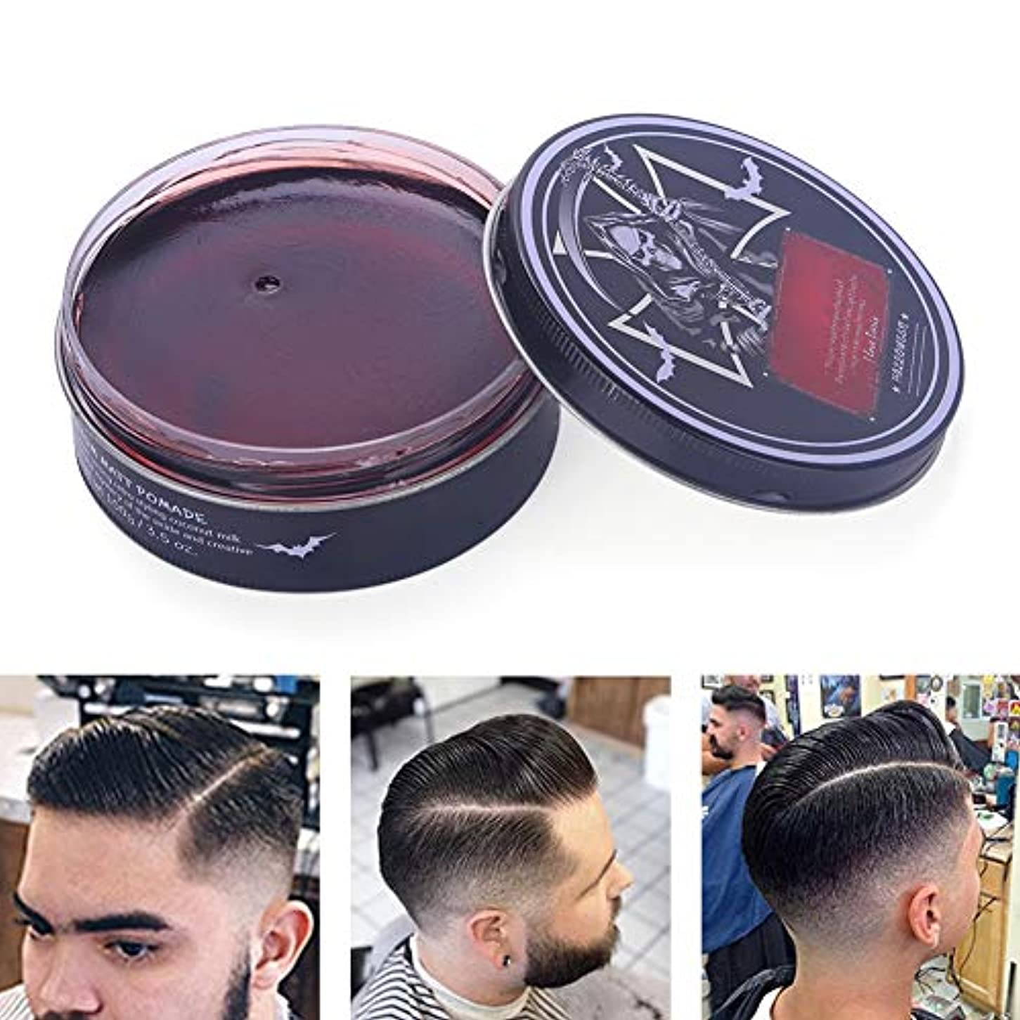 手足クーポン増幅プロのヘアスタイリング100ミリリットルを設計するための男性のためのヘアスタイリングワックス、ナチュラルおよび有機成分ヘアスタイリング粘土