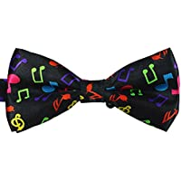 Bullidea 1pc Mens Pure Plain Bowtie Note Pre-Tied Bow Tie Wedding Party Polyester Colored